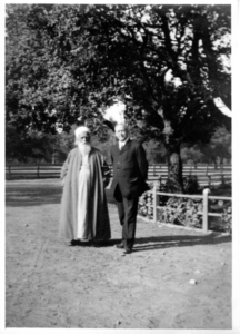 Abdu'l-Baha with Pastor Reed Palo Alto