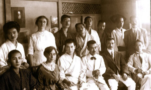 1915-First photo of Baha'is in Japan with Martha Root-1