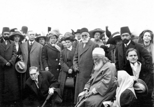 Abdu'l-Baha at Dedication (Seated)