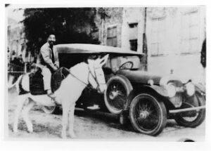 Saichiro Fujita on Abdu'l-Baha's Donkey c US National Archives